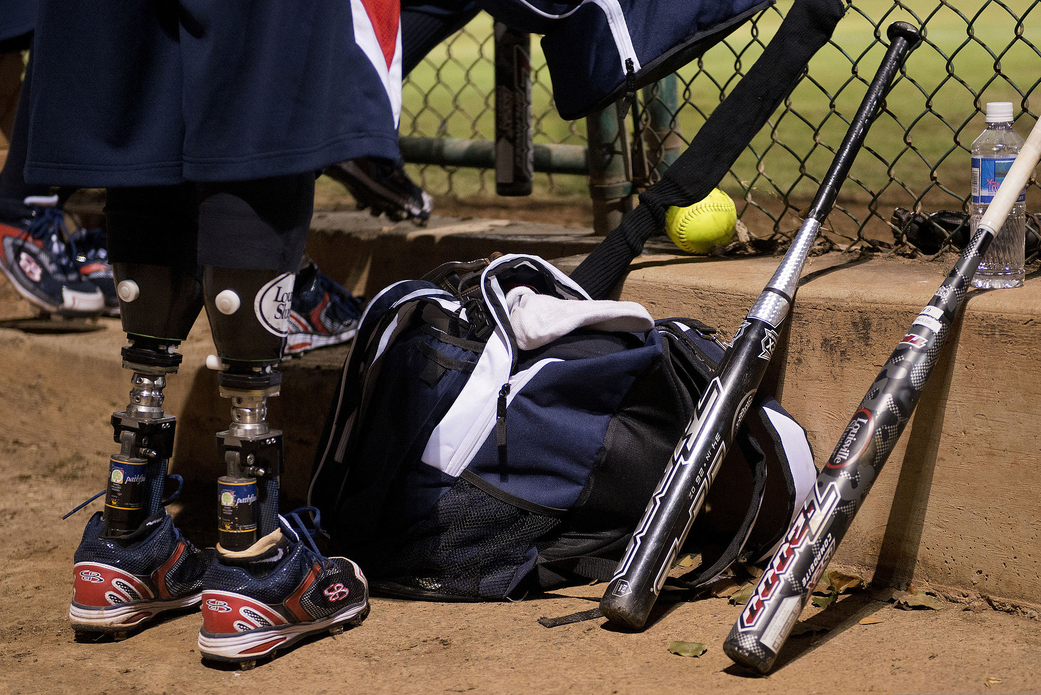 Joshua_Wege,_with_the_Wounded_Warrior_Amputee_Softball_Team,_waits_to_take_the_field_130107-F-ZB240-426 (1)